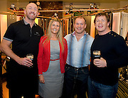 Emma Dillon Leetch Carlton Hotel  with  Rugby legends Trevor Brennan,Frankie Sheahan and Paul Wallace at the Guinness Area22 event in the Carlton Hotel Galway.
