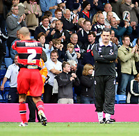 Photo: Mark Stephenson.<br /> West Bromwich Albion v Queens Park Rangers. Coca Cola Championship. 30/09/2007.Qpr's manager John Gregory looking dejected after the game