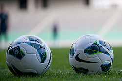 Balls at first practice before friendly football match between National teams of Slovenia and Romania, on August 13, 2012 in SRC Stozice, Ljubljana, Slovenia. (Photo by Matic Klansek Velej / Sportida.com)