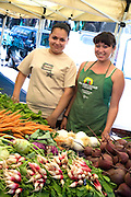 Vegetable Vendor At The Anaheim Farmers Market