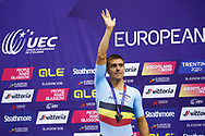 Podium, Men Points Race, Kenny De Ketele (Belgium) silver medal, during the Track Cycling European Championships Glasgow 2018, at Sir Chris Hoy Velodrome, in Glasgow, Great Britain, Day 4, on August 5, 2018 - Photo Luca Bettini / BettiniPhoto / ProSportsImages / DPPI - Belgium out, Spain out, Italy out, Netherlands out -