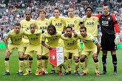 25-04-2010 VOETBAL: AJAX - FEYENOORD: AMSTERDAM<br /> De eerste wedstrijd in de bekerfinale is gewonnen door Ajax met 2-0 / Teamfoto Feyenoord<br /> ©2009-WWW.FOTOHOOGENDOORN.NL