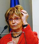 EU Rapporteur of the Foreign Affairs Committee Doris Pack, during a press conference after the meeting with the president of Kosovo Fatmir Sejdiu, on Monday, April 6, 2009. (Photo/Vudi Xhymshiti)