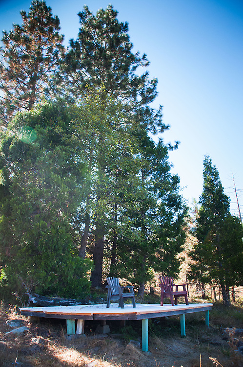 Tent Platform at Shasta View Treehouse, Mt. Shasta, California, US