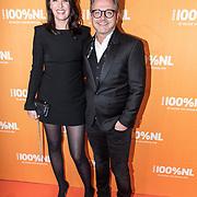 NLD/Amsterdam/20180220 - 100% NL Awards 2018, Guus Meeuwis en partner Manon Meijers