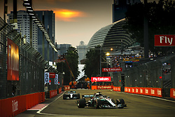 September 15, 2018 - Singapore, Singapore - Motorsports: FIA Formula One World Championship 2018, Grand Prix of Singapore, .#44 Lewis Hamilton (GBR, Mercedes AMG Petronas Motorsport), #77 Valtteri Bottas (FIN, Mercedes AMG Petronas Motorsport) (Credit Image: © Hoch Zwei via ZUMA Wire)