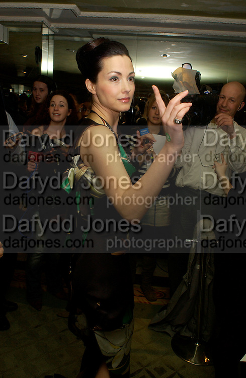 Julie Dreyfus, 24th London Film Critics Circle Awards in aid of the NSPCC , ( AlFS) the Dorchester, 11 February 2004. © Copyright Photograph by Dafydd Jones 66 Stockwell Park Rd. London SW9 0DA Tel 020 7733 0108 www.dafjones.com