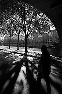 France. Paris. 4th district. Seine river quay des Celestins.  / le quai des Celestins