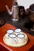 Belo Horizonte, MG, Brasil.<br /> <br /> Detalhe de xicara esmaltada num fogao a lenha.<br /> <br /> Cup detail on the wood stove.<br /> <br /> Foto: BRUNO MAGALHAES / NITRO