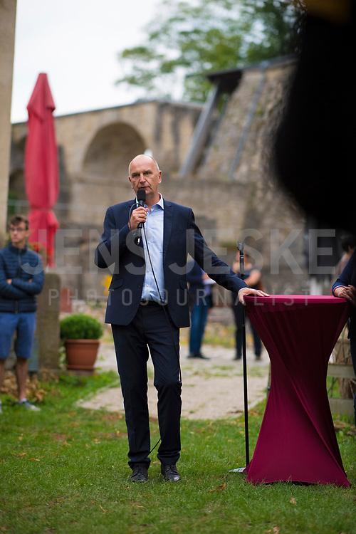 DEU, Deutschland, Germany, Rüdersdorf, 29.07.2019: Brandenburgs Ministerpräsident Dr. Dietmar Woidke (SPD) bei einer Wahlkampfveranstaltung im Museumspark Rüdersdorf.