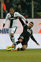 "Fabiano Santacroce Parma Fabio Quagliarella Juventus.Parma 13/01/2013 Stadio ""Tardini"".Football Calcio Serie A 2012/13.Parma v Juventus.Foto Insidefoto Paolo Nucci."