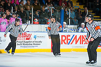 KELOWNA, CANADA - OCTOBER 15: Ice officials on October 15, 2016 at Prospera Place in Kelowna, British Columbia, Canada.  (Photo by Marissa Baecker/Shoot the Breeze)  *** Local Caption ***