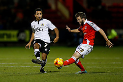 Korey Smith of Bristol City is challenged by Jamie Ness of Crewe Alexandra - Photo mandatory by-line: Rogan Thomson/JMP - 07966 386802 - 20/12/2014 - SPORT - FOOTBALL - Crewe, England - Alexandra Stadium - Crewe Alexandra v Bristol City - Sky Bet League 1.
