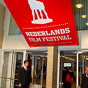 NLD/Utrecht/20100929 - NFF 2010 - Jubileumavond 21 jaar Filmfestival, entree met logo
