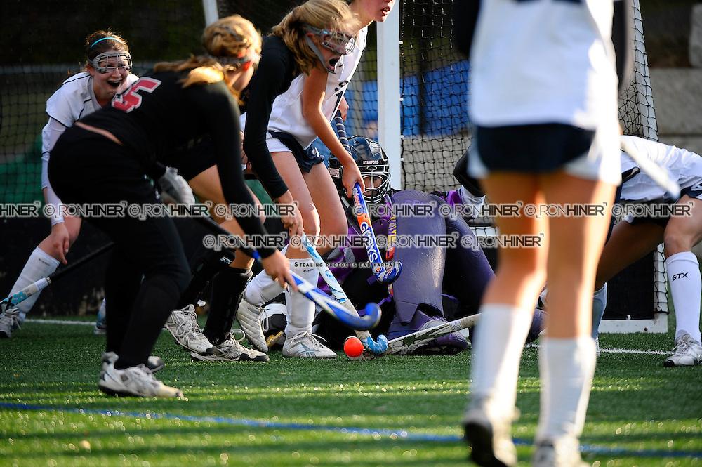 Jenn Hoets (Goalie, Captain).pile up in front of the goal