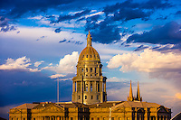 Colorado State Capitol Building, Downtown Denver, Colorado USA.