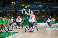 20160910 Copyright onEdition 2016©<br /> Free for editorial use image, please credit: onEdition<br /> <br /> Wheelchair Basketball player (Men) Phil Pratt from Cardiff, competing for ParalympicsGB at the Rio Paralympic Games 2016.<br />  <br /> ParalympicsGB is the name for the Great Britain and Northern Ireland Paralympic Team that competes at the summer and winter Paralympic Games. The Team is selected and managed by the British Paralympic Association, in conjunction with the national governing bodies, and is made up of the best sportsmen and women who compete in the 22 summer and 4 winter sports on the Paralympic Programme.<br /> <br /> For additional Images please visit: http://www.w-w-i.com/paralympicsgb_2016/<br /> <br /> For more information please contact the press office via press@paralympics.org.uk or on +44 (0) 7717 587 055<br /> <br /> If you require a higher resolution image or you have any other onEdition photographic enquiries, please contact onEdition on 0845 900 2 900 or email info@onEdition.com<br /> This image is copyright onEdition 2016©.<br /> <br /> This image has been supplied by onEdition and must be credited onEdition. The author is asserting his full Moral rights in relation to the publication of this image. Rights for onward transmission of any image or file is not granted or implied. Changing or deleting Copyright information is illegal as specified in the Copyright, Design and Patents Act 1988. If you are in any way unsure of your right to publish this image please contact onEdition on 0845 900 2 900 or email info@onEdition.com