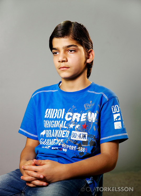 Omar (not his real name) is 13 years old and comes from the Damascus area.<br /> Photos Ola Torkelsson <br /> Copyright Ola Torkelsson © 2013
