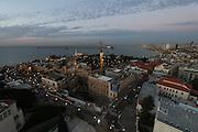 Aerial Photography of Jaffa, Israel at night