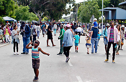 A general view of King Langalibalele Street during the Open Streets Langa event on 30 October 2016, when the street was closed to motorised vehicles and opened to people. Hosted by Open Streets Cape Town and supported by the City of Cape town and WWF. photo by John Tee/RealTime Images.