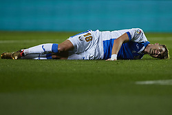 January 10, 2018 - Vila-Real, Castellon, Spain - Naranjo of CD Leganes lays down on the pitch during the Copa del Rey Round of 16, second leg game between Villarreal CF and CD Leganes on January 10, 2018 in Vila-real, Spain  (Credit Image: © David Aliaga/NurPhoto via ZUMA Press)