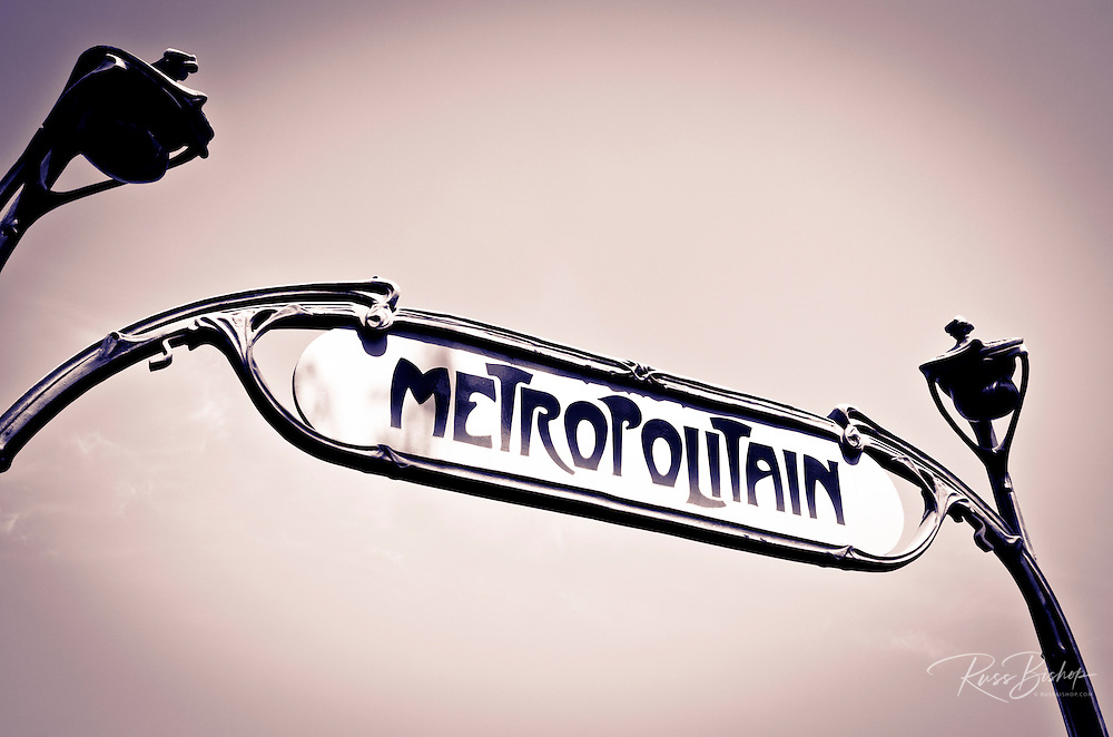 Metro sign, Paris, France