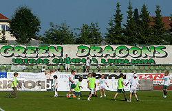 Young players of Olimpija in halftime of the final match of 2nd SNL league between NK Olimpija in NK Aluminij, on May 23, 2009, ZAK, Ljubljana, Slovenia. Aluminij won 2:1. NK Olimpija is a Champion of 2nd SNL and thus qualified to 1st Slovenian football league for season 2009/2010. (Photo by Vid Ponikvar / Sportida)