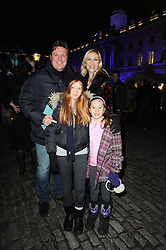 ROD BARKER and TANIA BRYER with their children MARISSA BARKER and FRANCESCA MOUFARRIGE at Skate presented by Tiffany & Co at Somerset House, London on 22nd November 2010.