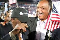 The Reverend Jesse Jackson reacts to Sen. Barack Obama's Democratic Nominee acceptance speech at the Democratic National Convention, August 28, Denver Colorado, Invesco Field. This series of photos was taken right after Obama referred to the late Dr. Martin Luther King, Jr., and the legacy he left to fulfill.