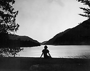 A scene from Lake Crescent on Oct. 13, 1968. (Josef Scaylea / The Seattle Times)