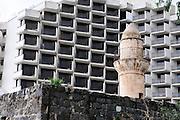 Israel, Tiberias a mosque on the promenade