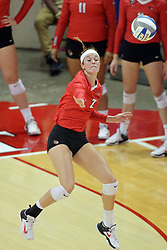 23 September 2017:  Jaelyn Keene during a college women's volleyball match between the Salukis of Southern Illinois and the Illinois State Redbirds at Redbird Arena in Normal IL (Photo by Alan Look)