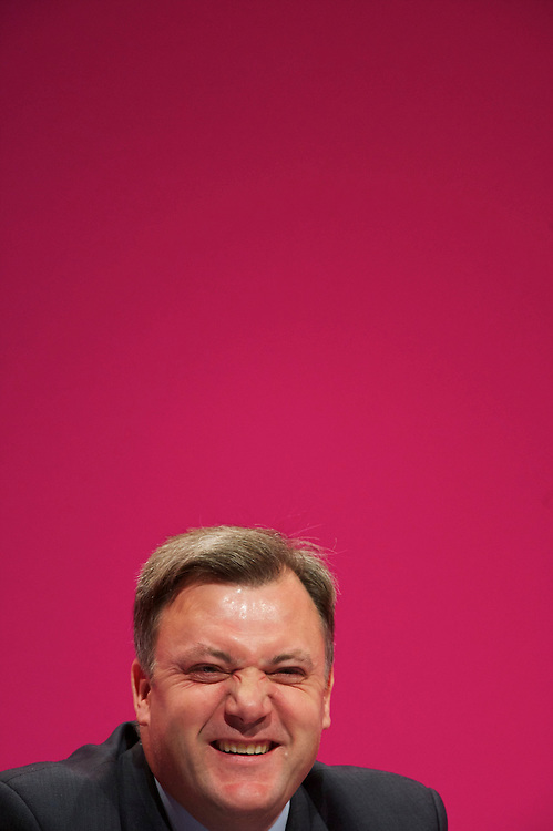 Ed Balls waits to address delgates attending the Labour Party Conference in Manchester on 29 September 2010, the penultimate day of annual assembly.