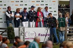 Clee Joe, (GBR), Utamaro D Ecaussines<br /> Team and 1th individual qualifier <br /> FEI European Championships - Aachen 2015<br /> © Hippo Foto - Dirk Caremans<br /> 19/08/15