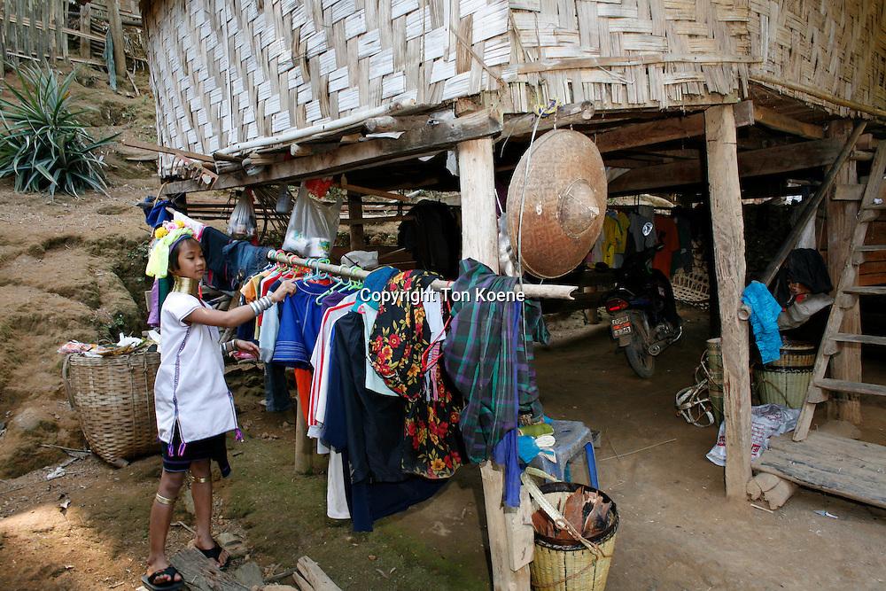 Karen tribe (longneck) in Thailandvillage of the Karen tribe in Thailand