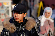 Unveiled soccer .Ibtissam is seen walking in Sidi-Moumen on the outskirts of Casablanca  Ibtissam is considered to be one of the most promissing soccer athlet in Morocco .Wednesday , 13th January 2010 ,  Sidi-Moumen , outskirts of Casablanca , Morocco. (Photo Joao Henriques )