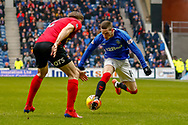 Ryan Kent of Rangers FC during the Ladbrokes Scottish Premiership match between Rangers and Kilmarnock at Ibrox, Glasgow, Scotland on 16 March 2019.