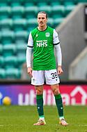 Jackson Irvine (#36) of Hibernian FC during the SPFL Premiership match between Hibernian FC and Motherwell FC at Easter Road, Edinburgh, Scotland on 27 February 2021.