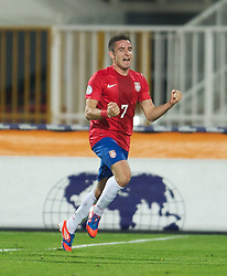11.09.2012, Karadorde Stadion, Novi Sad, SRB, FIFA WM Qualifikation, Serbien vs Wales, im Bild Serbia's Zoran Tosic scores the second goal against Wales during FIFA World Cup Qualifier Match between Serbia and Wales at the Karadorde Stadium, Novi Sad, Serbia on 2012/09/11. EXPA Pictures © 2012, PhotoCredit: EXPA/ Propagandaphoto/ David Rawcliff..***** ATTENTION - OUT OF ENG, GBR, UK *****