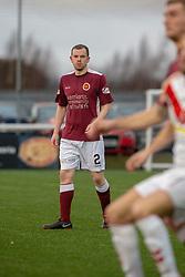 Stenhousemuir's Alan Reid. Stenhousemuir 1 v 0 Airdrie, Scottish Football League Division One played 26/1/2019 at Ochilview Park.