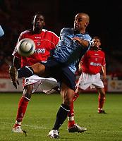 Fotball<br /> England<br /> Foto: SBI/Digitalsport<br /> NORWAY ONLY<br /> <br /> The Barclays Premiership.<br /> <br /> Charlton Athletic v Southampton<br /> 13/9/2004.<br /> <br /> Charlton Athletic's Jason Euell and Southampton's Kevin Phillips