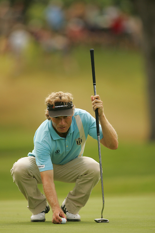 FORT WORTH, TX - MAY 27:  Bernhard Langer competes during the fourth round of the 2007 Crowne Plaza Invitational At Colonial tournament in Fort Worth, Texas at Colonial Country Club on Sunday, May 27, 2007. (Photo by Darren Carroll/Getty Images) *** LOCAL CAPTION*** Bernhard Langer