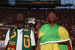 23.06.2010, Olympiapark, Muenchen, GER, FIFA Worldcup, Puplic Viewing Ghana vs Deutschland  im Bild ghana Fans nach dem 0-1 , EXPA Pictures © 2010, PhotoCredit: EXPA/ nph/  Straubmeier / SPORTIDA PHOTO AGENCY