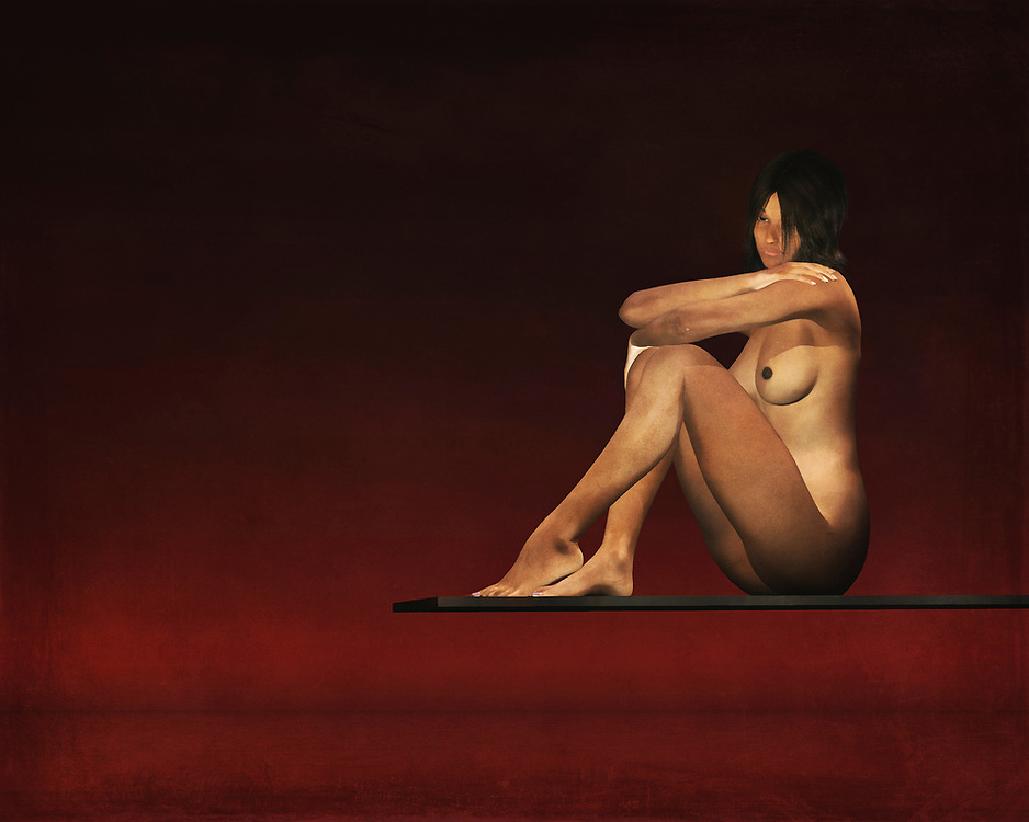 This nude model sits on a plank above the waters. Her mind is clearly consumed by her thoughts, but we have no way of knowing what those thoughts actually entail. We can only study this lovely, fascinating nude study as closely as possible. We can only speculate as to what she might be thinking about, but that is one of the great things about this piece. Even as you appreciate the detail, your mind is fascinated by other aspects. This painting can be purchased as wall art, but it is also available on t-shirts, and across a variety of interior products. .<br /> <br /> BUY THIS PRINT AT<br /> <br /> FINE ART AMERICA<br /> ENGLISH<br /> https://janke.pixels.com/featured/let-me-think-a-moment-jan-keteleer.html<br /> <br /> WADM / OH MY PRINTS<br /> DUTCH / FRENCH / GERMAN<br /> https://www.werkaandemuur.nl/nl/shopwerk/Erotisch-naakt---Naakt-model-zit-op-een-plank-boven-het-water/445240/134
