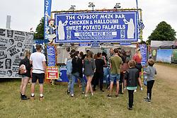 Latitude Festival 2017, Henham Park, Suffolk, UK. Cypriot meze bar