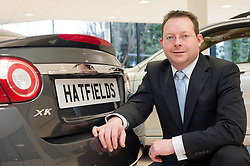 Hatfields Jaguar Sharrowvale Road Sheffield Newly Refurbished Showroom General sales Manger Tim Hudson...10 January 2010.Images © Paul David Drabble