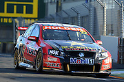 Holden Racing team's James Courtney in action during  Race 5 of the ITM 400 Hamilton,Hamilton Street Circuit, Day Two, Hamilton City ,V8 supercars,, Photo: Dion Mellow / photosport.co.nz