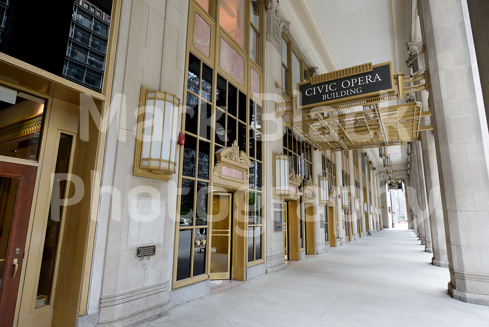 The historic Civic Opera building and home of the Lyric Opera in Chicago, Illinois. Photo by Mark Black