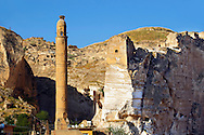 Ayyubid El Rizk Mosque ancinet citadel & Artukid Little Palace of Hasankeyf– The Mosque was built in 1409 by the Ayyubid sultan Süleyman and stands on the bank of the Tigris River. It has Kufic incriptions & decorations. Turkey 1 .<br /> <br /> If you prefer to buy from our ALAMY PHOTO LIBRARY  Collection visit : https://www.alamy.com/portfolio/paul-williams-funkystock/hasankeyf-turkey.html<br /> <br /> Visit our PHOTO COLLECTIONS OF TURKEY HISTOIC PLACES for more photos to download or buy as wall art prints https://funkystock.photoshelter.com/gallery-collection/Pictures-of-Turkey-Turkey-Photos-Images-Fotos/C0000U.hJWkZxAbg