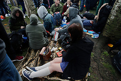 Hyde Park, London, 20/04/2014<br /> People roll joints during a pro-cannabis rally held in Hyde Park, central London. <br /> Photo: Anna Branthwaite/LNP
